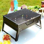 Nclon Portable Pliable pour Barbecue Barbecue à charbon,Bois carbone Bbq Grill Mini Fumeur Ménage Grill Sauvage Plein air Camping Jardin 3-5 People Noir-Grand 43*29*22cm de la marque Nclon image 4 produit