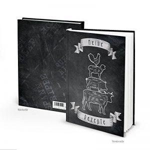 Noir Blanc XXL livre de recettes soi-même écrire Mes Recettes DIN A4type Musiciens de Brême 164vides pages blanches couverture rigide Livre de cuisine à monter soi-même livre de recettes pour la viande de la marque Logbuch-Verlag image 0 produit
