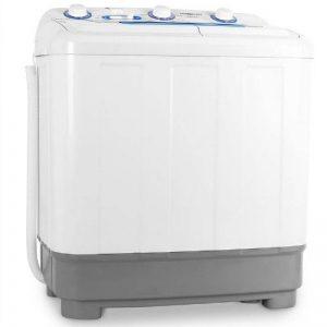 oneConcept DB004 • machine à laver • mini-machine à laver • lave-linge de camping • essoreuse • pour célibataires • étudiants • campeurs • capacité 4,8 kg • 380 W de puissance de lavage • blanc de la marque OneConcept image 0 produit