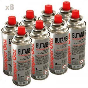 Pack de 8 cartouche gaz Camper Gaz 227gr butane - bouteille de gaz à baillonnette 227 gr - bonbonne pour réchauds camping de la marque Providus image 0 produit