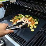 PHLWIN Tapis de grille pour barbecue Lot de 3avec pince en silicone premium B-2 de la marque PHLWIN image 4 produit