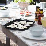 Rustler Plat pour Barbecue rectangulaire en Acier au Carbone avec Revêtement antiadhésif - Poêle à griller pour Barbecue chromées - Panier de Barbecue adapté pour les Légumes, Poissons et Fruits de mer - 30,8 x 25,2 x 6 cm - Noir de la marque Rustler image 4 produit