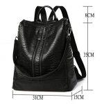 Sac a main Femme Simple Mode Sacs à main en PU Cuir Sac d'épaule Pour Filles Noir (L001EU-Noir) de la marque MSXUAN image 1 produit