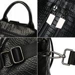 Sac a main Femme Simple Mode Sacs à main en PU Cuir Sac d'épaule Pour Filles Noir (L001EU-Noir) de la marque MSXUAN image 4 produit