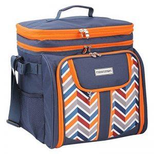 Sac à bandoulière Anndora - Pour pique-nique et transport - Avec 29 accessoires - Couleur au choix bleu de la marque ANNDORA image 0 produit