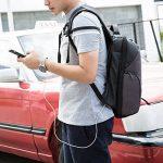 Sac à dos d'ordinateur portable d'anti-vol de Mupack sac d'ordinateur portable de 15,6 pouces avec 2 le sac à dos léger d'épaule de couverture de pluie pour des affaires / voyage / école / extérieur de la marque Mupack image 1 produit