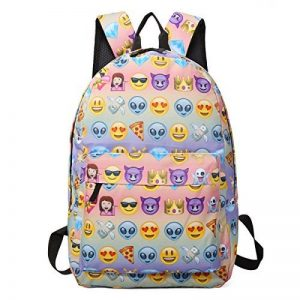 Sac à dos EMOJI, Gracosy Impémeable Super léger 35L Design Smiley Kawaii Backpack Cartable pour École Fille Garçon de la marque Gracosy image 0 produit