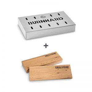 Set de fumage de 3 pièces avec fumoir en acier de BURNHARD composé d'un fumoir et de planches de fumage petit et grand format de la marque BURNHARD image 0 produit