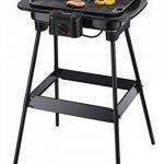 Severin - 8522 - Barbecue sur Pieds - 1600 W - plaque en fonte alu - thermostat - pare-vent - noir de la marque Severin image 1 produit