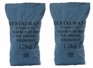 Shaina's Restaurant Lot de 2 sacs de charbon de bois 12kg de la marque Shaina's image 0 produit