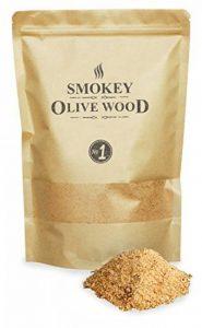 Smokey Olive Wood 1,5 litres de Sciure, 50% de bois d'olivier et 50% de bois de hêtre, copeaux fins de fumage, Taille du grain 0-1mm de la marque Smokey Olive Wood image 0 produit