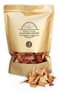 Smokey Olive Wood 1,7 litre de copeaux de bois d'amandier pour fumer, taille des copeaux 2 cm - 3 cm de la marque Smokey Olive Wood image 0 produit