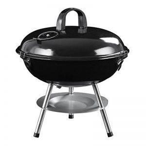 SONGMICS Gril à charbon de bois avec couvercle, barbecue à boule transportable, barbecue à trépied récupérateur cendres - pour les fêtes de jardin et le camping -Petit - GBQ14BK de la marque SONGMICS image 0 produit