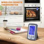 SUNAVO Thermomètre numérique sans fil lié à la cuisson à distance des aliments, renfermant un grand écran à cristaux liquides ainsi qu'une alarme de minuterie pour le thermomètre BBQ du gril du fumeur de la marque sunavo image 2 produit