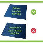 Tapis de Cuisson Haute Qualité pour Barbecue et Four - Set de 2 Tapis très épais de 40*33 cm pour les barbecue à gaz, charbon et électriques. 100% Anti-adhérent. L'accessoire indispensable pour cet ét de la marque Twinzee image 3 produit