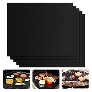 Tapis de Cuisson Haute Qualité pour Barbecue et Four - Set de 4 Tapis très épais de 40*33 cm pour les barbecue à gaz, charbon et électriques. 100% Anti-adhérent. L'accessoire indispensable pour cet ét de la marque cdsnxore® image 0 produit
