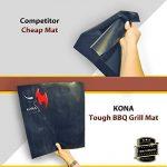 Tapis pour gril Barbecue KONA - Plaques ultra-résistantes et antiadhésives supportant 600 degrés (lot de 2) - Garantie 7 ans de la marque Kona image 3 produit