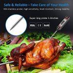 Thermomètre alimentaire numérique COZZINE avec sonde super longue, lecture instantanée, écran LCD pour la nourriture, viande, lait, eau, grill et barbecue, laboratoire (batterie incluse) de la marque Cozzine image 1 produit