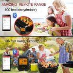Thermomètre de Barbecue Cuisine Bluetooth Universel Professionnel 6 Sondes + avec alarme pour la cuisine BBQ volaille/Grill/USDA/Four/Viande - Android iPhone iPad iOS - Version Mise à Niveau de la marque WEINAS image 1 produit
