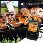 Thermomètre de Barbecue Cuisine Bluetooth Universel Professionnel 6 Sondes + avec alarme pour la cuisine BBQ volaille/Grill/USDA/Four/Viande - Android iPhone iPad iOS - Version Mise à Niveau de la marque WEINAS image 3 produit