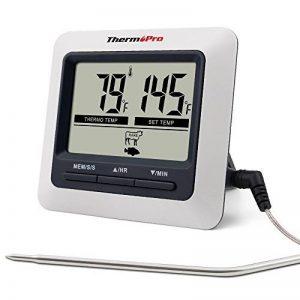 ThermoPro TP-04 Thermomètre de Cuisine Numérique Sonde pour Cuisson, Viande, Barbecue, Four de la marque ThermoPro image 0 produit