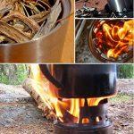 TING Poêle À Bois De Chauffage Extérieur Fosse À Barbecue Haute En Acier Inoxydable Poêle À Charbon De Bois Solide de la marque TING image 4 produit