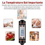 TOPELEK Thermomètres Cuisine Thérmo-Sonde de Cuisson, 5 Secondes pour Afficher les Chiffres,Écran LCD, Anti-Corrosion, Meilleur pour l'alimentation, la Viande,le Gril , BBQ, Lait et l'Eau de Bain de la marque TOPELEK image 3 produit