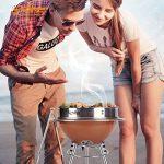 TY&WJ Barbecues à Charbon, Plein Air Maison Jardin Pliable Portable Bbq Barbecues Outil Pour Le Camping Party Hauteur Réglable - 31x31x71cm(12x12x28inch) de la marque TY&WJ image 3 produit