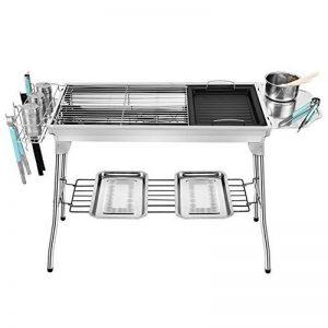 TY&WJ Plein air Acier inoxydable Barbecues à charbon, Maison jardin Grill Pliable Portable Barbecues Outil Pour Bbq Camping Cadeau-A 73*33*70cm de la marque TY&WJ image 0 produit
