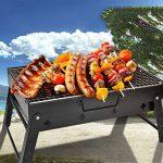 TY&WJ Plein air Barbecues à charbon. Maison jardin Pliable Grill Acier inoxydable Mesh Repas en plein air Bbq Pour Camping Randonnée Barbecues Outil-noir 43*29*24cm de la marque TY&WJ image 1 produit