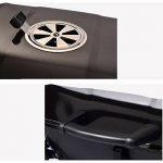 TY&WJ Plein air Portable Barbecues à charbon,Double couche Grill Repas en plein air Bbq Pour Camping Randonnée Barbecues-noir 52x34x38cm(20x13x15inch) de la marque TY&WJ image 4 produit