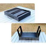 TY&WJ Portable Pliable Barbecues à charbon Maison jardin Grill Plein air Barbecues Outil Repas en plein air Bbq Pour Camping Randonnée-noir 43x27x24cm(17x11x9inch) de la marque TY&WJ image 4 produit