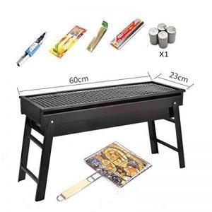 TY&WJ tiroirs Portable Barbecues à charbon,Maison jardin Barbecues Repas en plein air Bbq Pour Camping Randonnée Grill-noir 60x23cm(24x9inch) de la marque TY&WJ image 0 produit