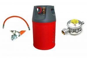 Unbekannt Composite (Plus léger que alugas) Bouteille de gaz 24,5l (11kg) + Tuyau + détendeur 30mbar de la marque Unbekannt image 0 produit
