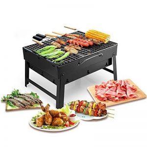 Uten Barbecue Portable Petit Barbecue à Charbon de Table Domestique Pliable avec 2 Barbecue Grille Inox Barbecue extérieur/Camping/piquenique de la marque Uten image 0 produit