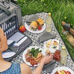 VonShef Sac de pique-nique à roulettes 4 personnes - Panier Picnic sur Roues avec Compartiment isotherme, Couverts et Plaid Inclus de la marque VonShef image 2 produit