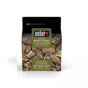Weber fumage Wood Chunks morceaux de bois Mesquite, marron, 17,8x 8,9x 30,5cm, 17620 de la marque Weber image 0 produit