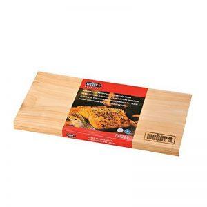 Weber Planche de bois bois de cèdre, Lot de 2, marron, 30x 15x 1cm, 17522 de la marque Weber image 0 produit