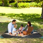 XL–220x 140cm Nappe–Pique-nique à 100% étanche tapis pique-nique Rides pour camping, plage, randonnée, voyages–Plume–étanche–Outdoor Gris de la marque PChui image 4 produit
