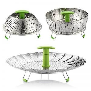 Zanmini la cuisine vapeur panier légumes vapeur panier en acier inoxydable réglable pliable de la marque Zanmini image 0 produit
