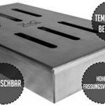 ZTC Boîte Fumoir | acier inoxydable | Boîte Fumoir de bonne qualité | Boîte Fumoir avec grad Volume | adapté pour barbecue à gaz et Barbecue au charbon de la marque image 2 produit