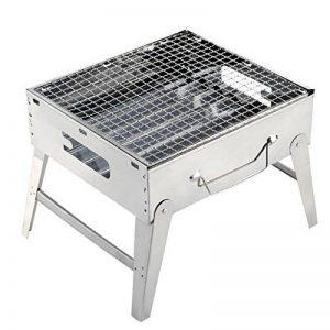 ZZ-aini Portable Pliante Barbecuess à charbon, fumée Camping BBQ Pique-nique Table Barbecues -C 30x26.5x24cm de la marque ZZ-aini image 0 produit