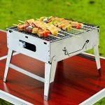 ZZ-aini Portable Pliante Barbecuess à charbon, fumée Camping BBQ Pique-nique Table Barbecues -C 30x26.5x24cm de la marque ZZ-aini image 4 produit